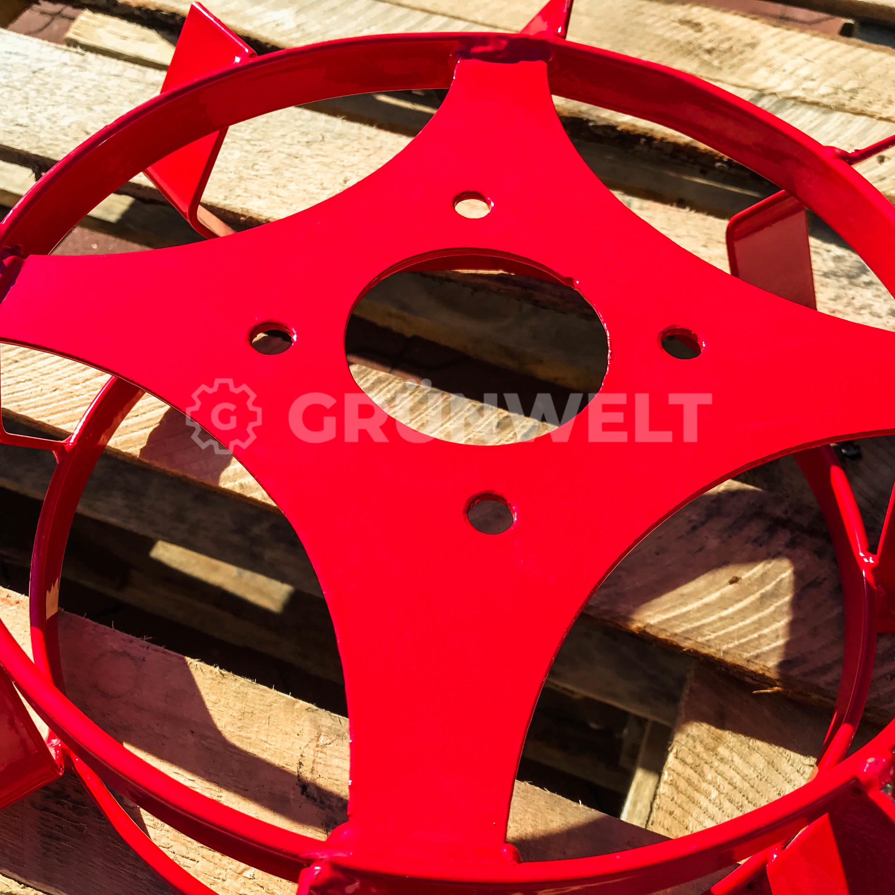 Eisenräder Grünwelt GW-ER380 Schaufelräder Schaufelrad Eisenradset Pflügen